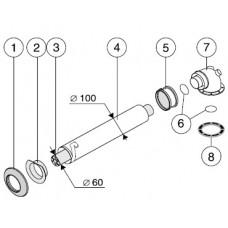 Вспомогательное оборудование для вставки гибкого трубопровода диам. 80 мм