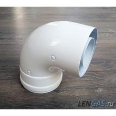 Колено коаксиальное алюминиевое 90гр. 60/100 TR.6090F