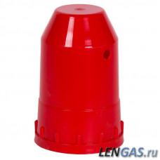 Колпак полипропиленовый резьбовой для баллонов, красный (пропан)