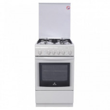 Газовая плита De Luxe 506040.01 Г (кр) чуг. решетки белый