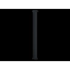 Радиатор труб. Zehnder Charleston 2180, 04 сек.1/2 бок.подк. RAL9017matt (9217) (кроншт.в компл)