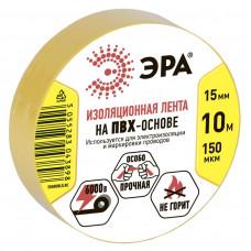ПВХ-изолента ЭРА 15мм*10м желтая (500/16000)