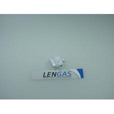 Кнопка ТУПа (газконтроля) на Gefest 1200, 3100, 3200 белая с длиной ножкой